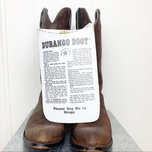 Vintage Durango leather cowgirl boots